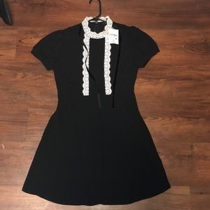 High Collar Black Dress